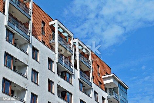 680603734 istock photo Modern, Luxury Apartment Building 680546720