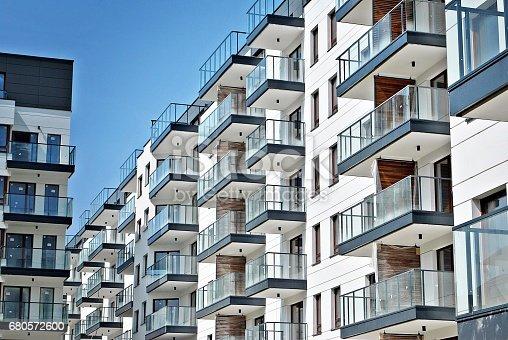 680603734 istock photo Modern, Luxury Apartment Building 680572600