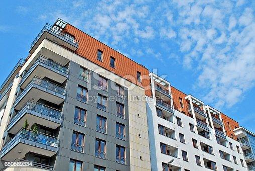 680603734 istock photo Modern, Luxury Apartment Building 680589334