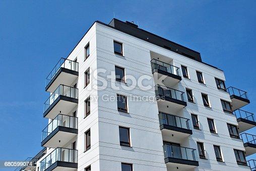680603734 istock photo Modern, Luxury Apartment Building 680599074