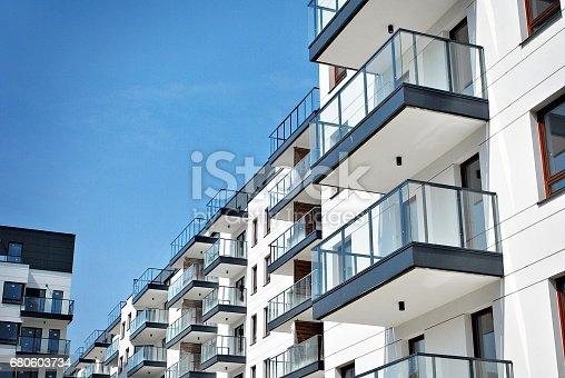 istock Modern, Luxury Apartment Building 680603734