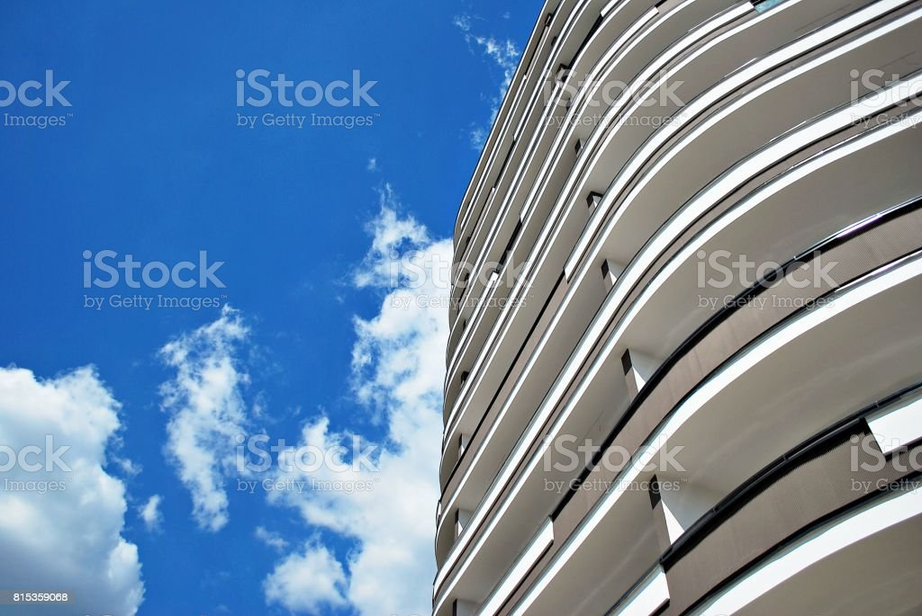 Modern, Luxury Apartment Building. stock photo