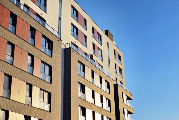 Modern, Luxury Apartment Building stock photo