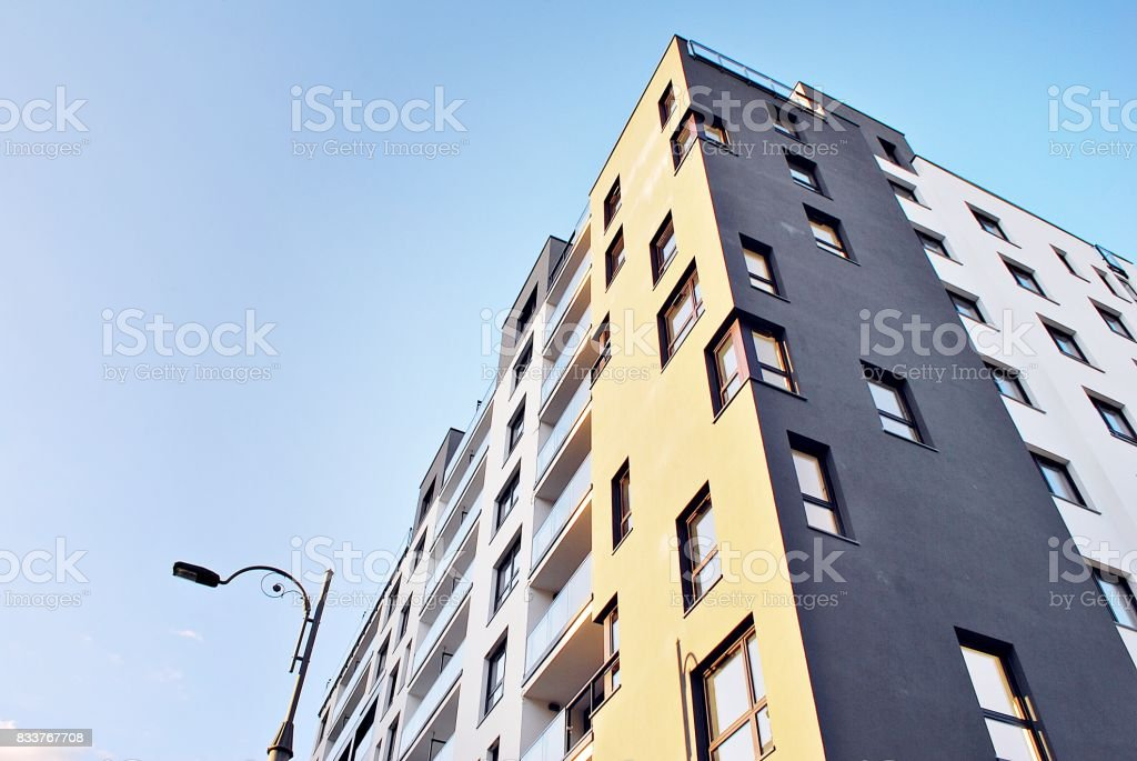 Modern, Luxury Apartment Building stock photo