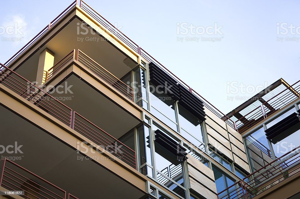 Modern luxury apartments and condominiums royalty-free stock photo
