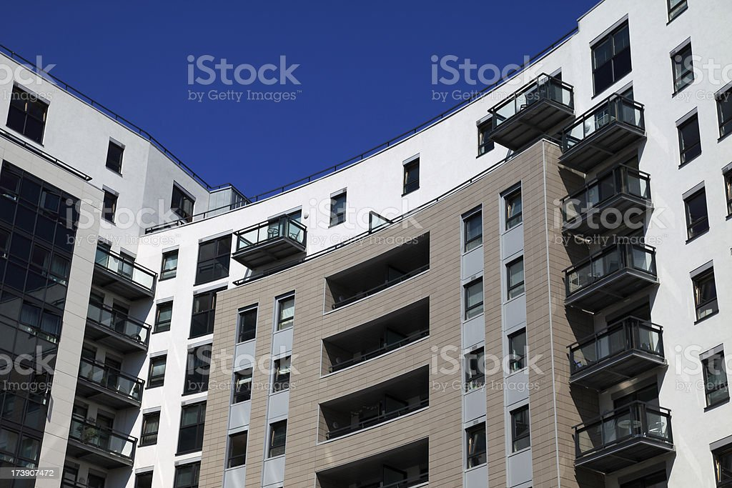 Modern luxury apartments royalty-free stock photo