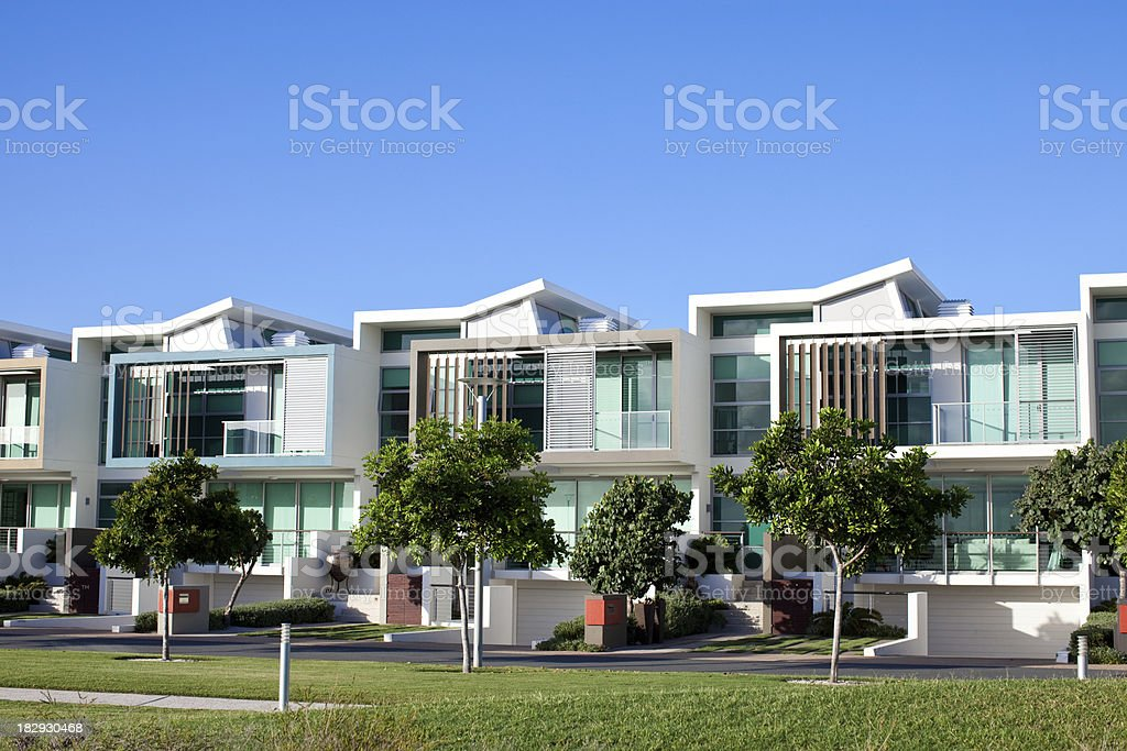 Modern Luxury Apartments stock photo