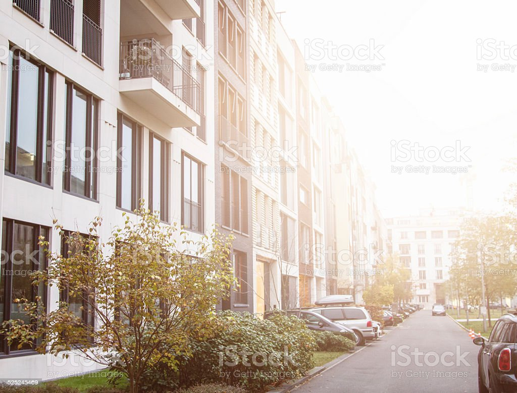 Modern Luxury Apartments - Townhouse stock photo