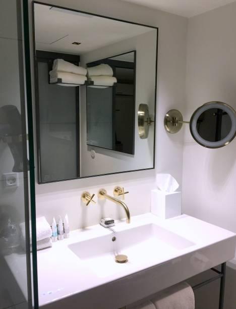 Modern luxury bathroom stock photo