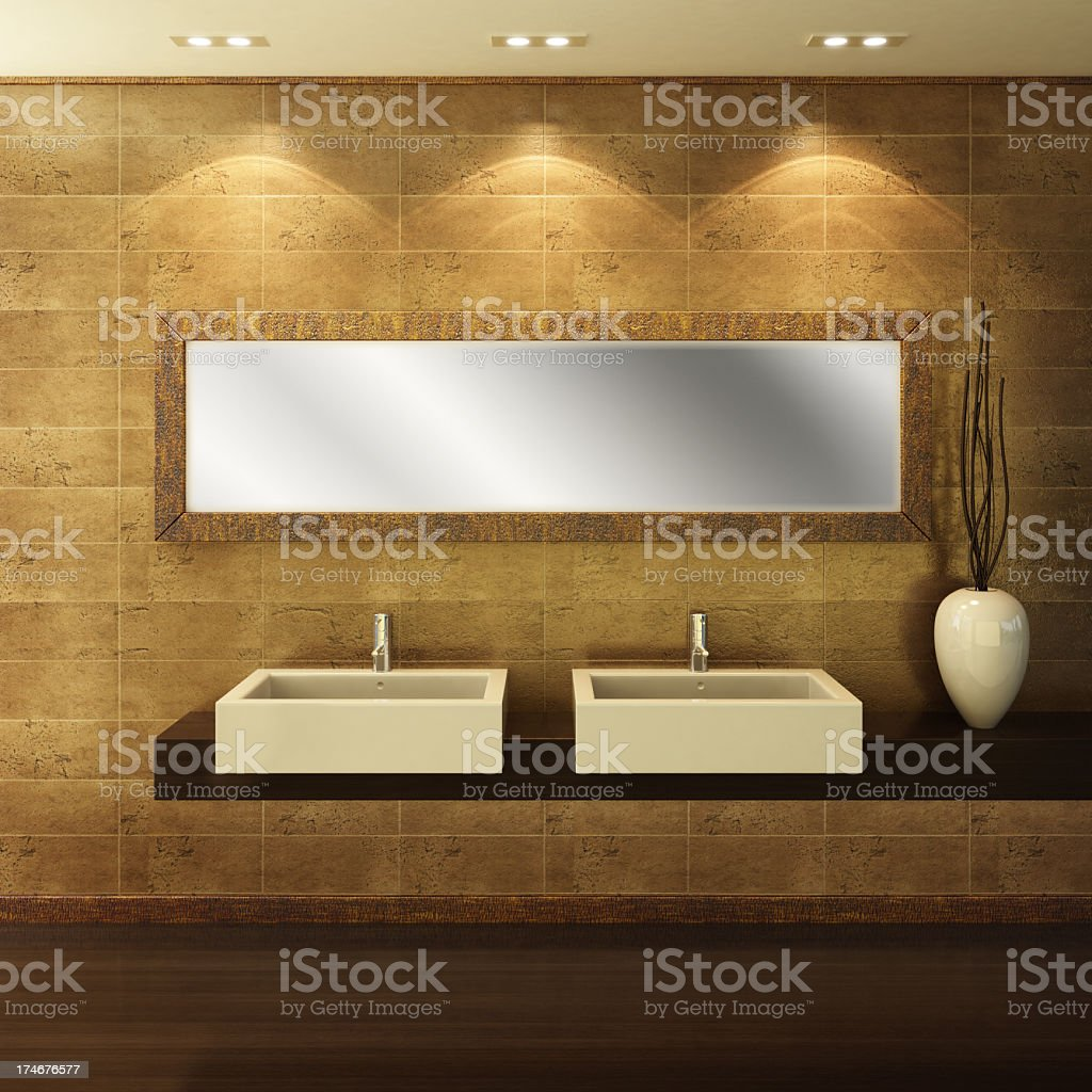 Modern Luxury Bathroom royalty-free stock photo