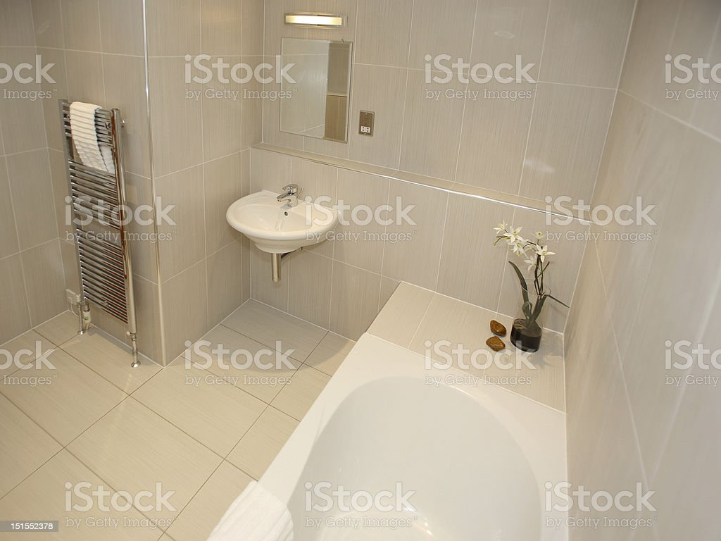 Modern Luxury Bathroon Interior stock photo