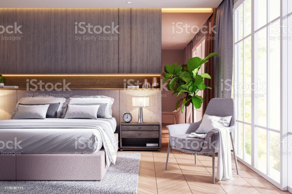 Modern Luxury Bedroom Interior Design 3d Rendering Stock Photo Download Image Now Istock