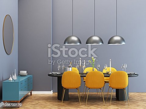 Modern luxury dining room
