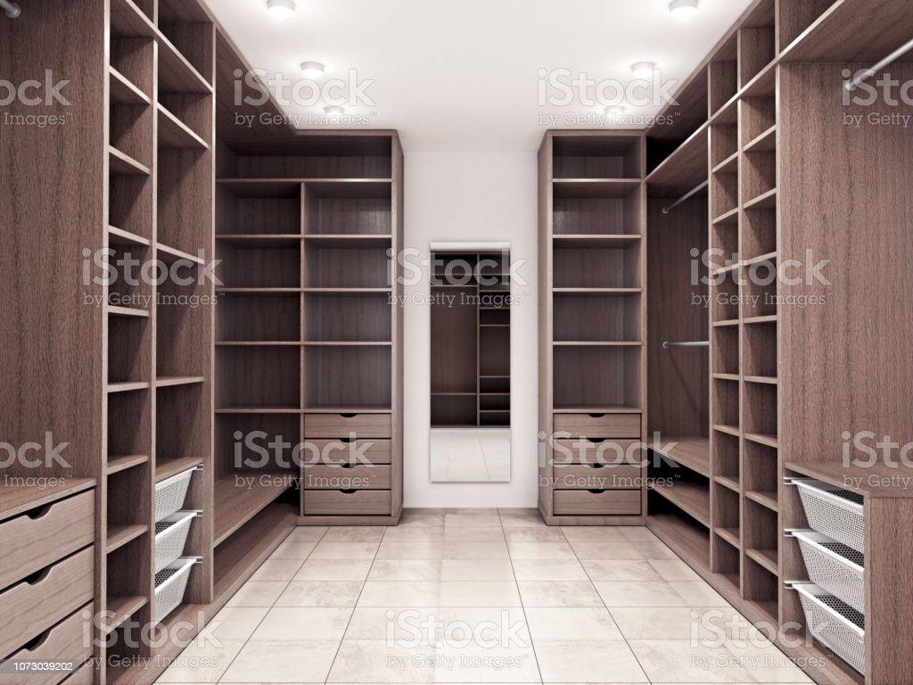 Moderne Luxus Dressing Room Garderobe 3d Visualisierung ...