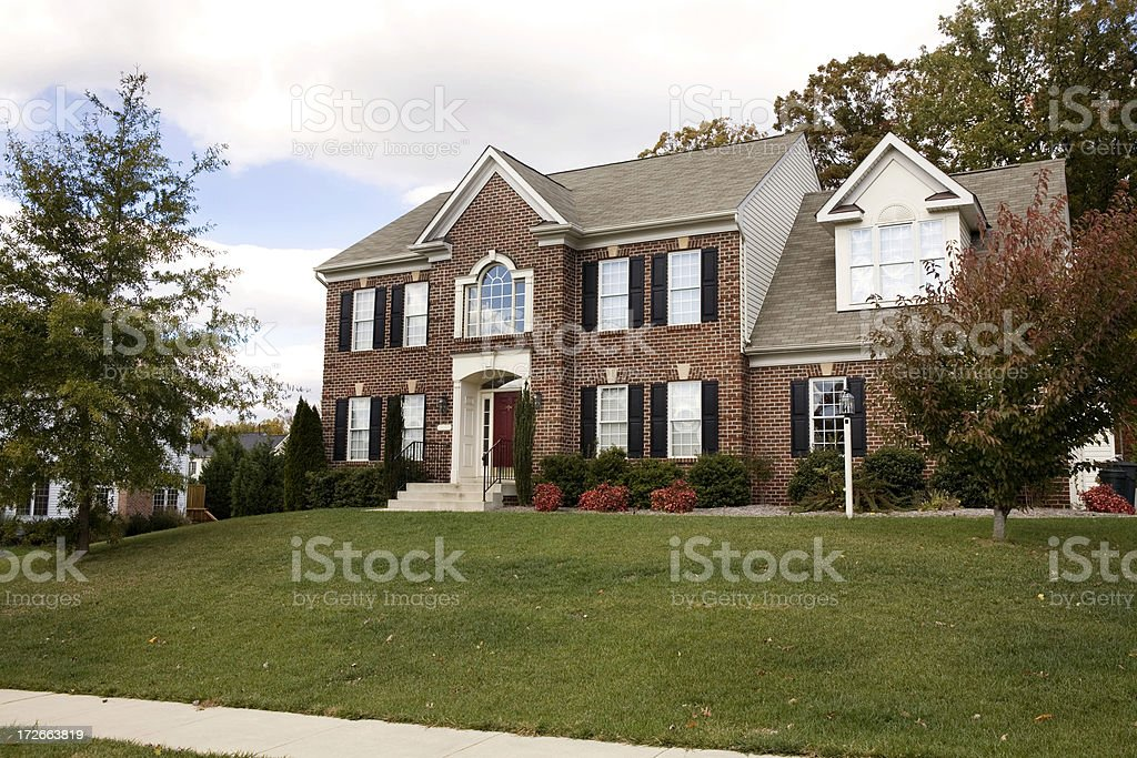 Modern Luxury  Home Suburbia stock photo