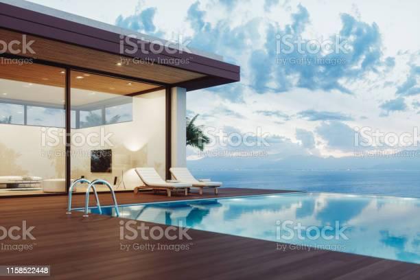 Modern luxury house with infinity pool at dawn picture id1158522448?b=1&k=6&m=1158522448&s=612x612&h=z08yhs0smcmprmn88cfeebmmscylp0z8ten jjevpri=