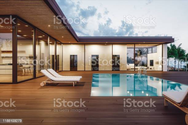 Modern luxury house with private swimming pool at dusk picture id1155103273?b=1&k=6&m=1155103273&s=612x612&h=6ppwtr7tylzau6uims0nl941vh5jizswnbvrza1r ye=