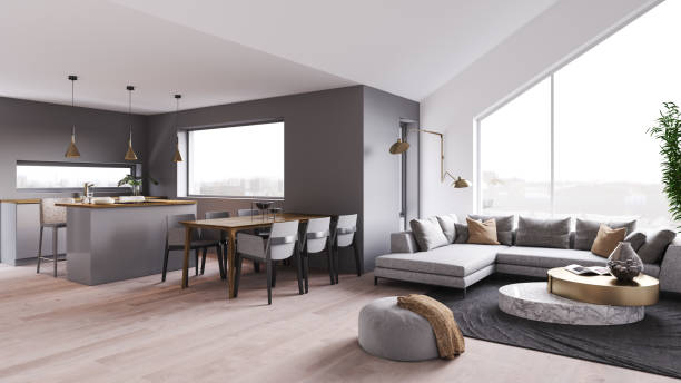 modern luxury interior. - nelleg stock photos and pictures
