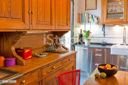 istock Modern  luxury  kitchen condo apartment. 538576038