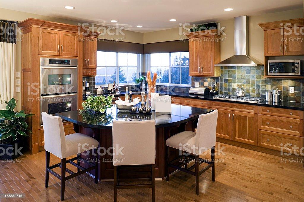 modern luxury kitchen estate house royalty-free stock photo