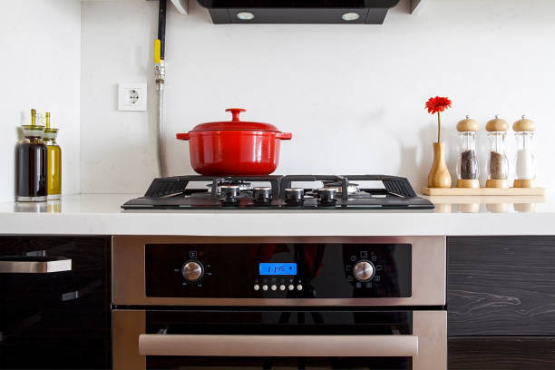 modern luxury kitchen modern luxury kitchen stove stock pictures, royalty-free photos & images