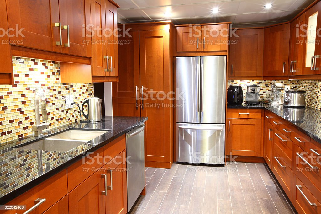 Modern Luxury Kitchen With Stainless Steel Appliances Stock Photo Download Image Now Istock