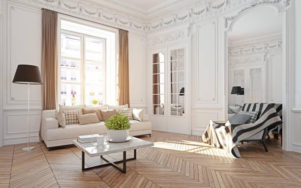 moderna sala de estar de lujo. - foto de stock