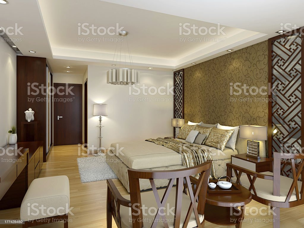 Modern Luxury Master Bedroom Interior With Wood Details Stock Photo Download Image Now Istock