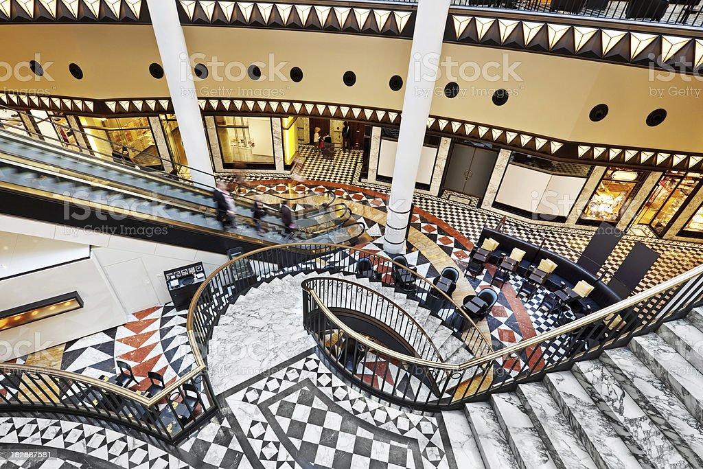 modern luxury staircase royalty-free stock photo