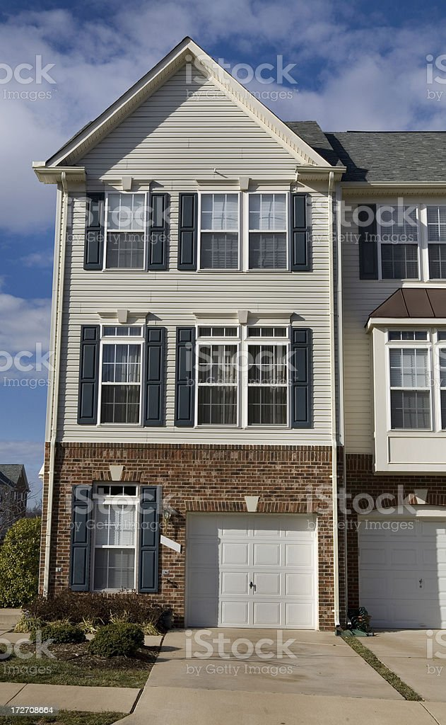 Modern Luxury Townhouse in Suburbia royalty-free stock photo