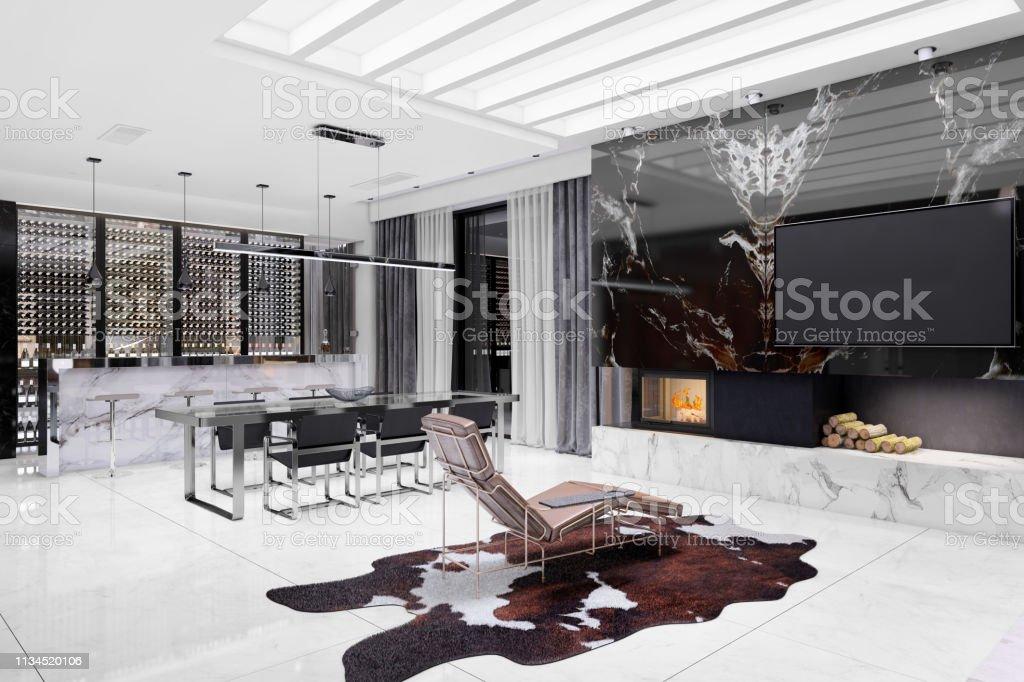Moderne Luxusvilla Interieur Stockfoto und mehr Bilder von Abu Dhabi ...