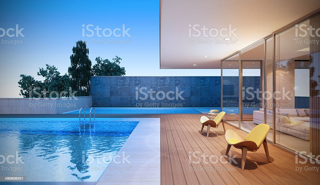Modern Luxury Villa stock photo
