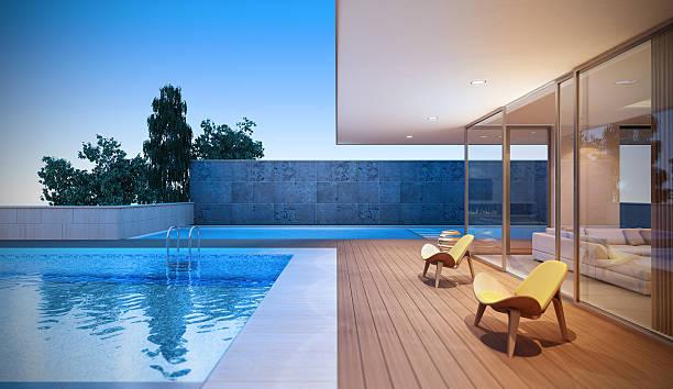 Luxo moderno Villa - foto de acervo