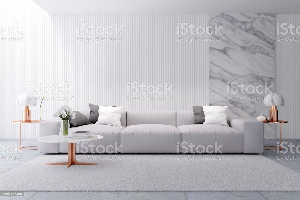 Modern Luxury White Living Room Interior Design White Sofa ...