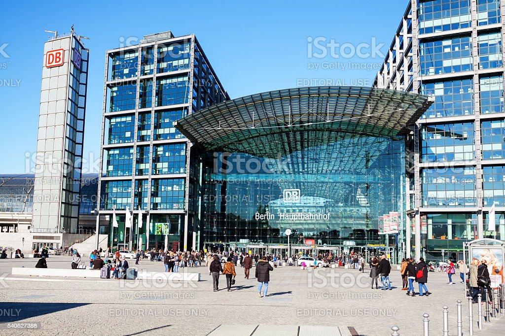 Modern main station Berlin stock photo
