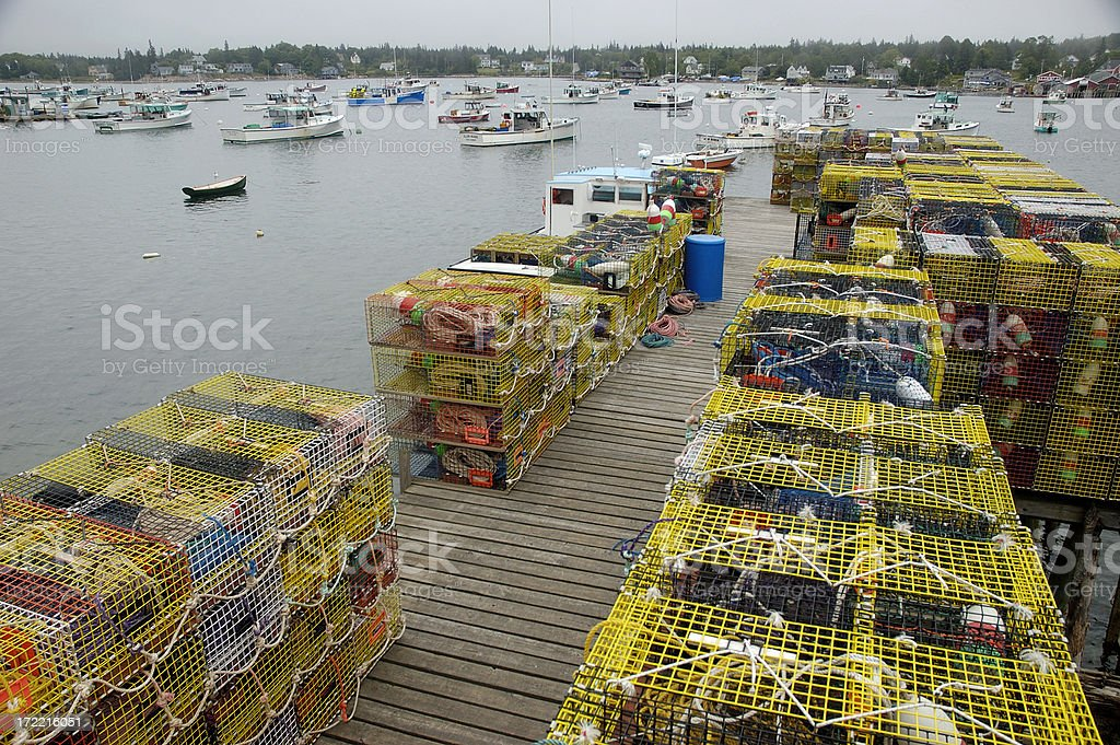 Modern Maine Lobster traps royalty-free stock photo