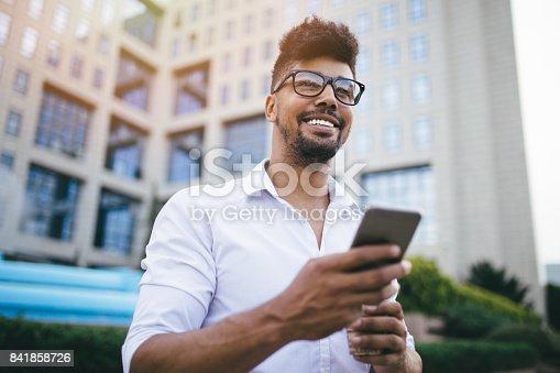 istock Modern man on the street 841858726