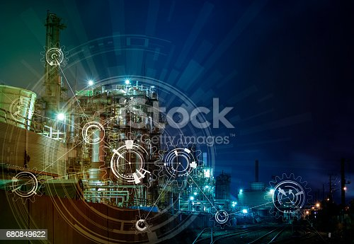 1136415363 istock photo modern manufacturing industry and mechanization concept, abstract image visual 680849622