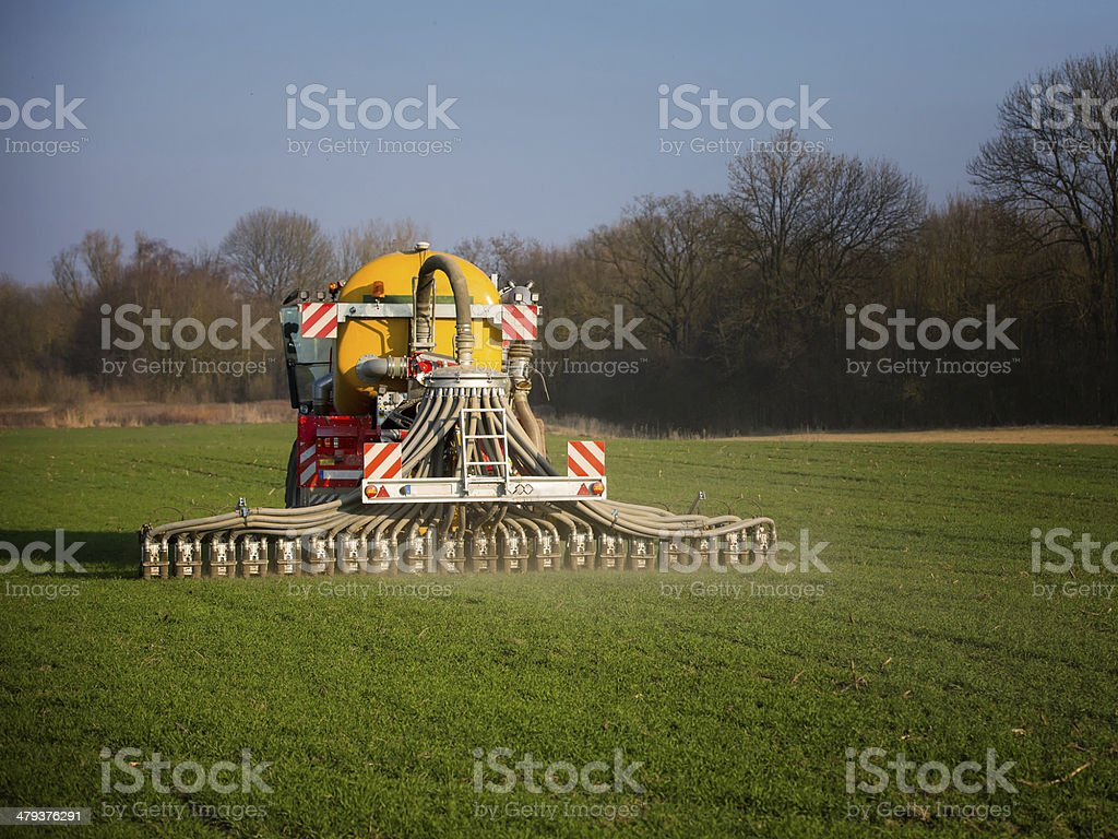 Modern manure tank royalty-free stock photo
