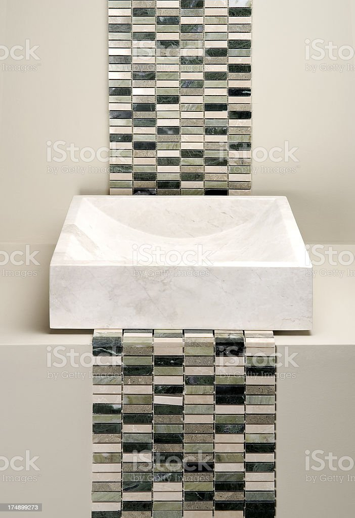 Modern marble Bathroom royalty-free stock photo