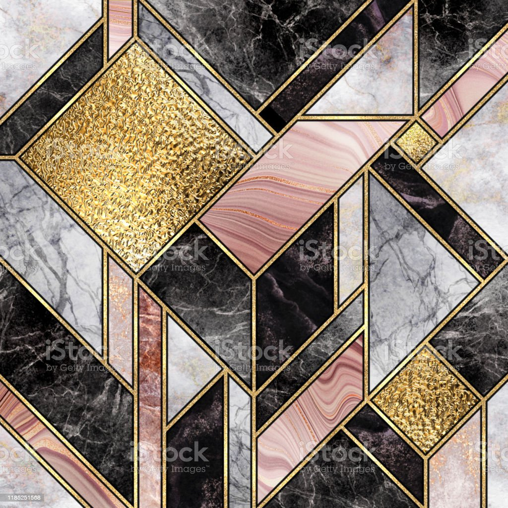 modern marble mosaic abstract background art deco wallpaper stone picture id1185251568