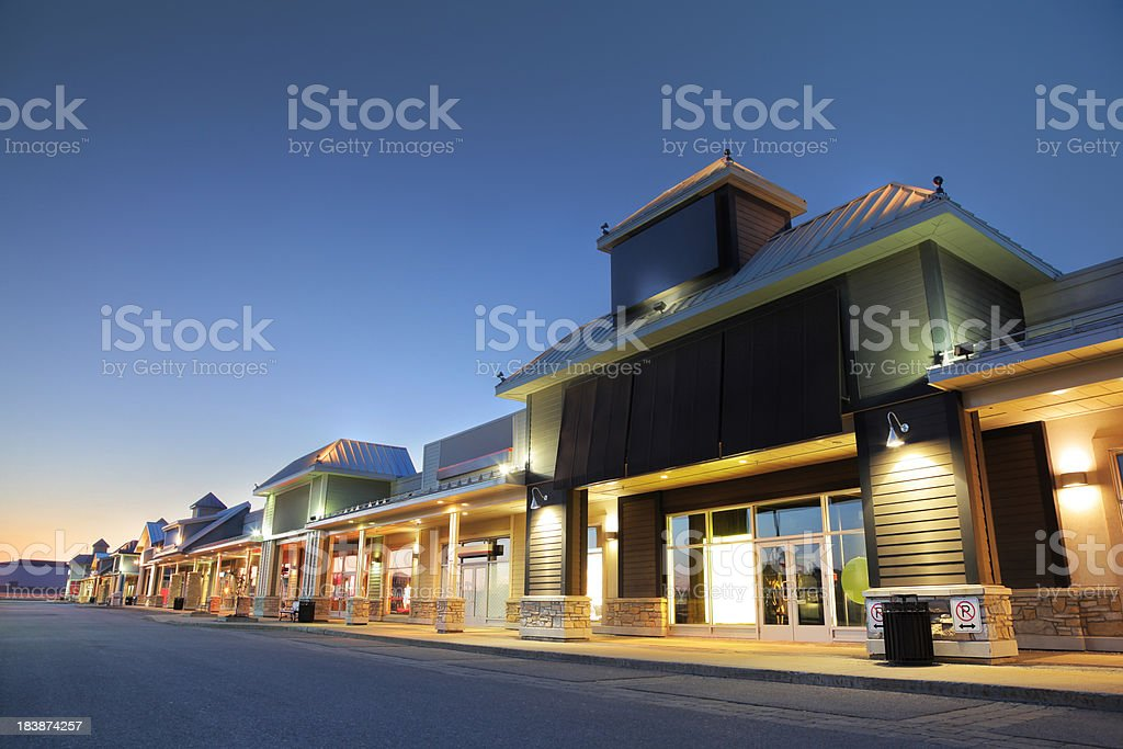 Modern Marketplace Store Exteriors royalty-free stock photo