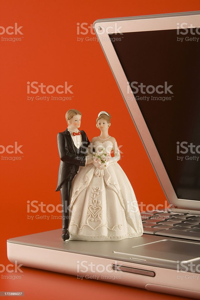 Modern marriage royalty-free stock photo