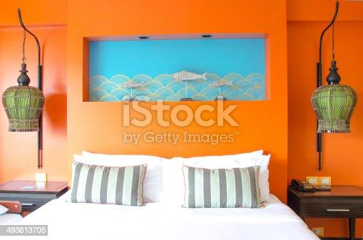 istock Modern master bedroom interior 493613705