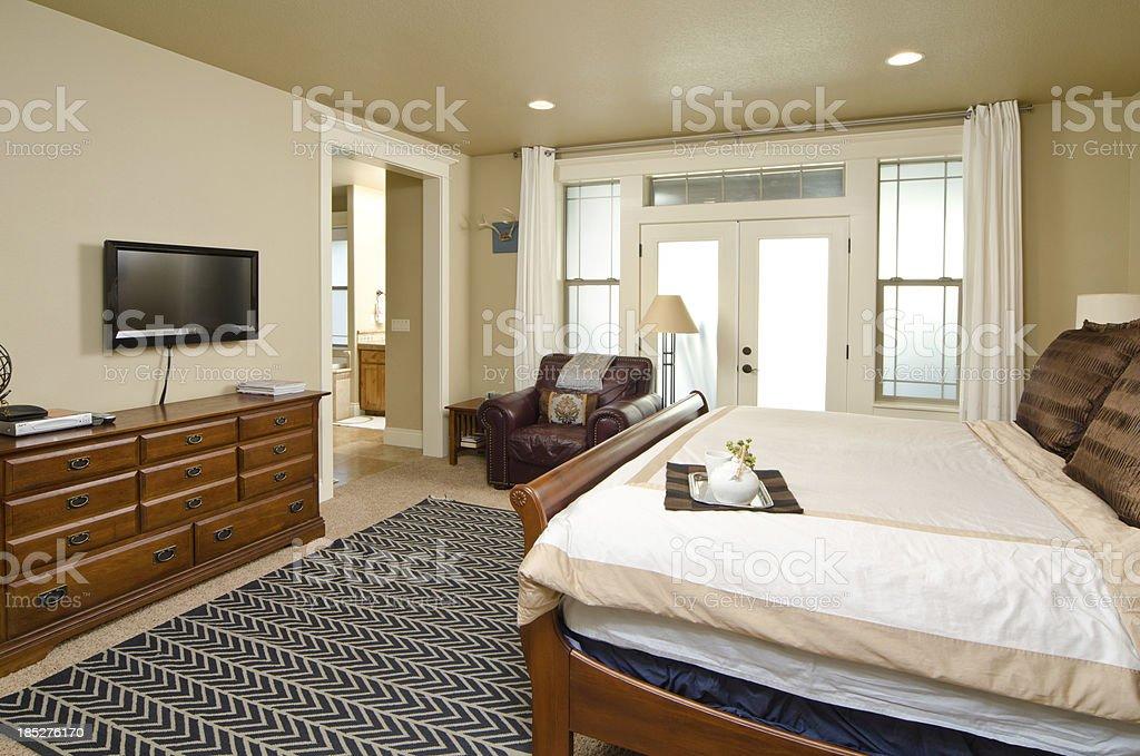 Modern master bedroom royalty-free stock photo