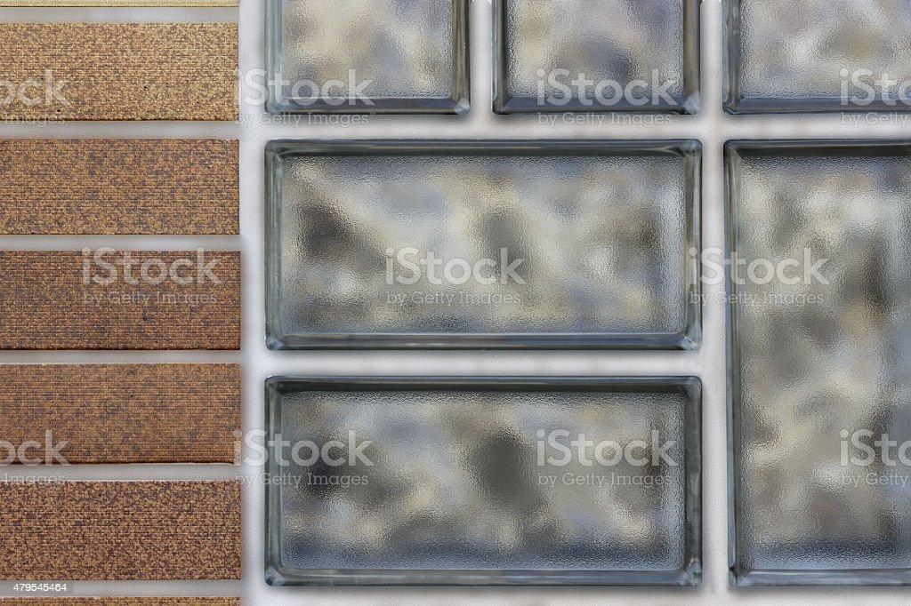 Modern materials for interior and facade design stock photo