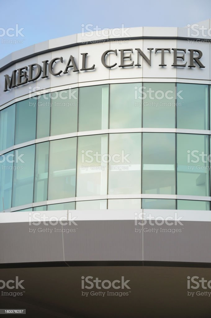Modern medical center with sign royalty-free stock photo