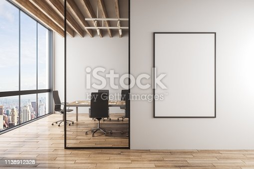 istock Modern meeting room interior 1138912328