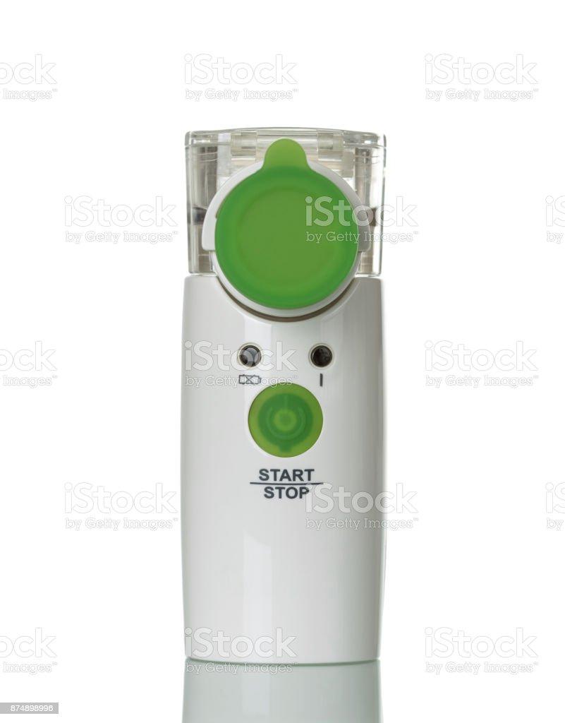 Modern membrane nebulizer for children, isolated on white stock photo