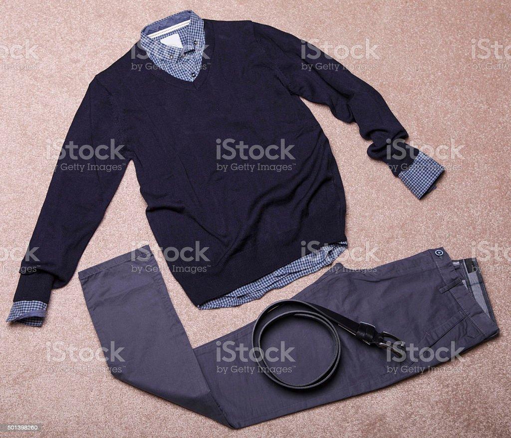 Modern men's clothing stock photo